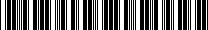 Barcode for NPN075020