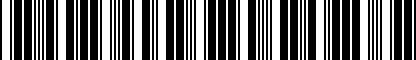 Barcode for NPN075023