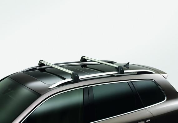 Diagram Base Carrier Bars - For vehicles with factory rails - Silver (7P6071151A) for your Volkswagen